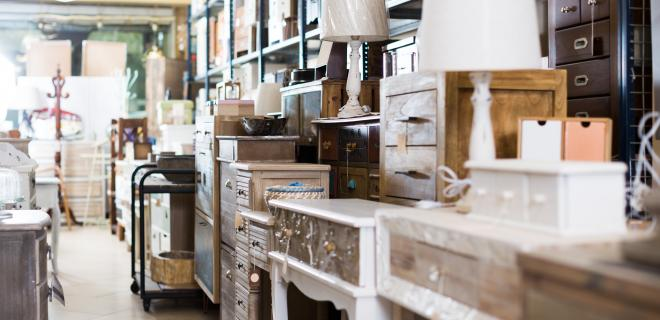 store full of donated and vintage furniture